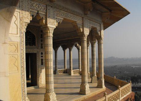 Uitzicht fort in Agra. Foto: © Leon Yaakov