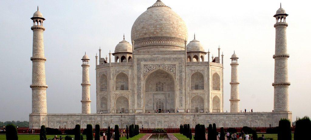 Taj Mahal in Agra.
