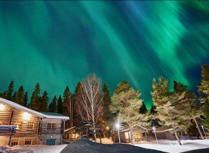 @Brändön Lodge, Noorderlicht in Zweeds Lapland, Zweden