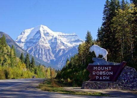Zicht op Mount Robson