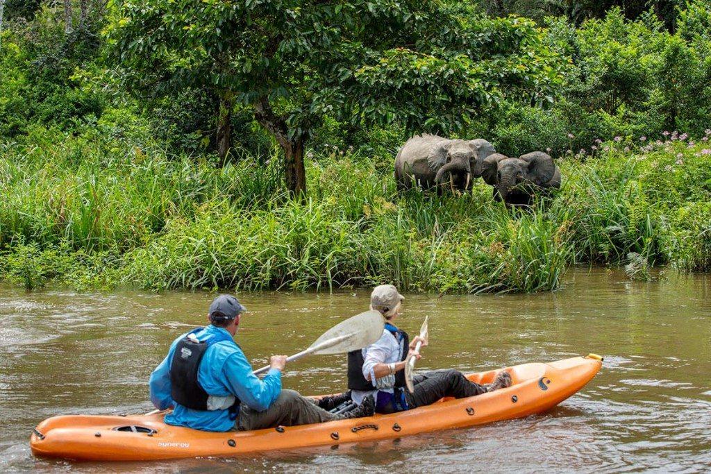 Congo_OdzalaKokouaNationalPark_OdzalaDiscoveryCamps_LangoCamp_Sundowners_MbokoCamp_Activity_KayakingAdventure10