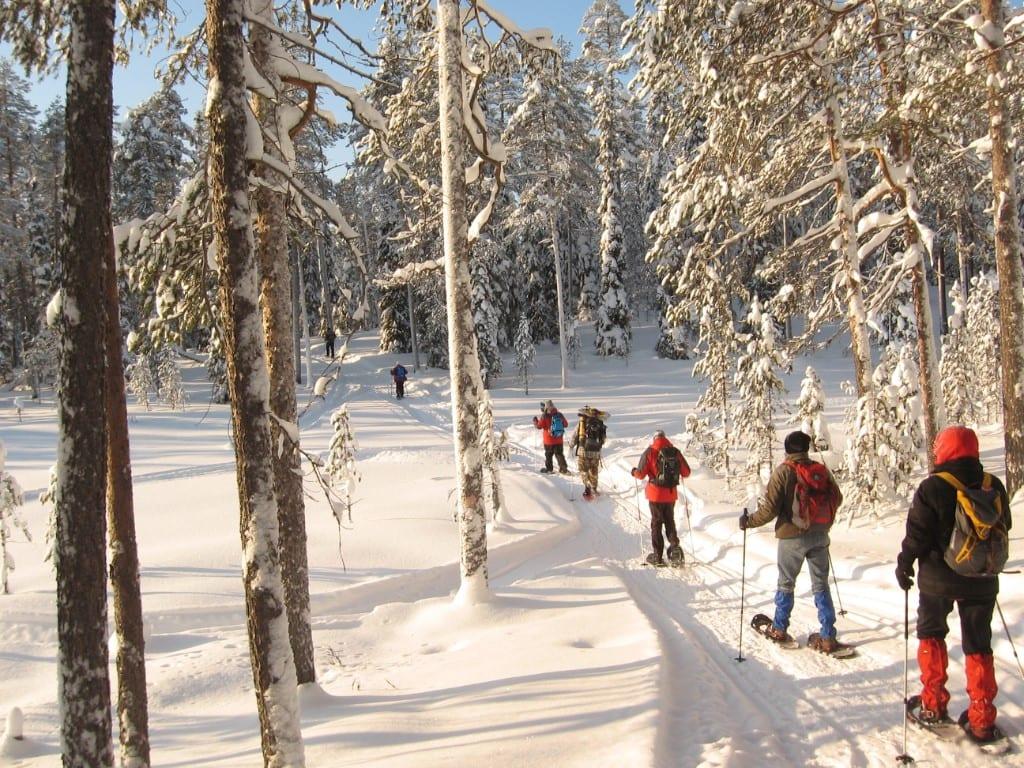 Sneeuwschoentrekking Hossa