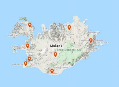 IJsland op de kaart