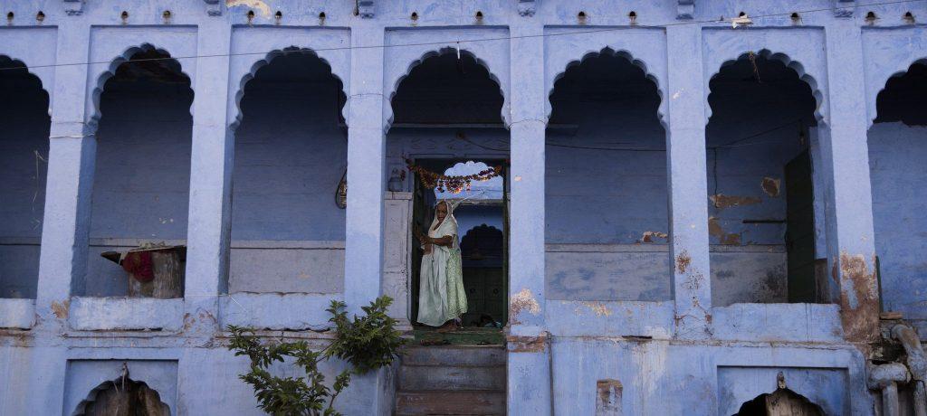 Blauw huis in Jodhpur. Foto: © davidbaxendale.com