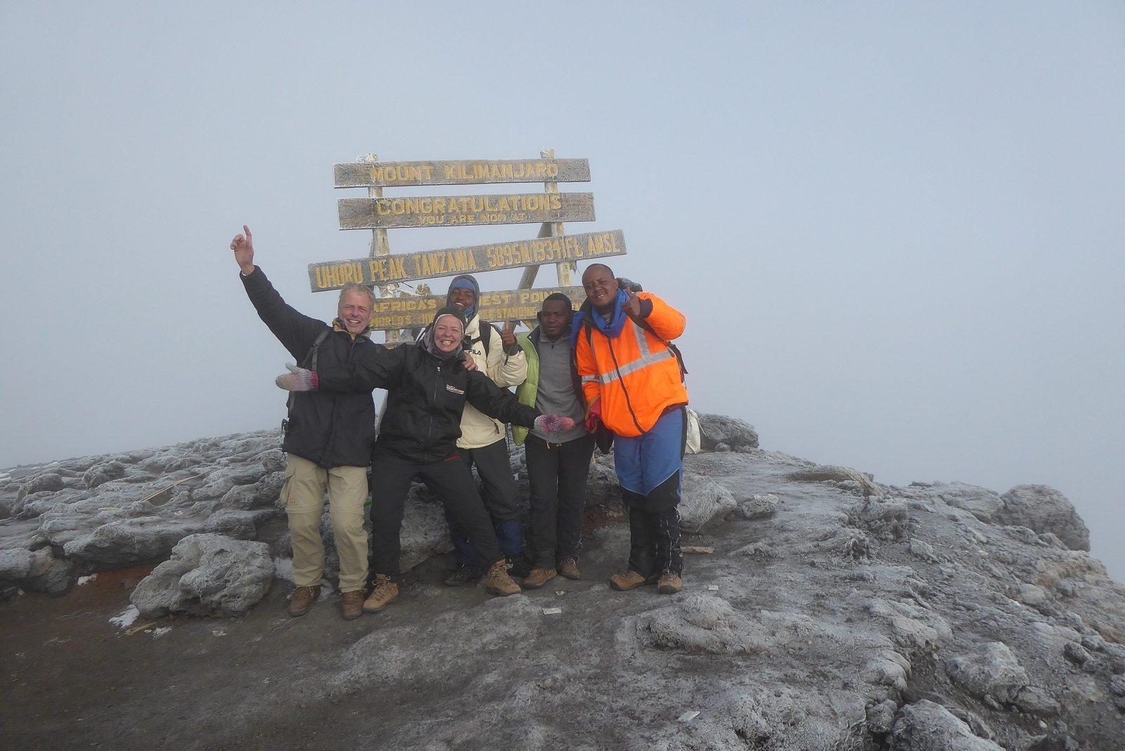 Uhuru Peak. Foto: Johan Blokvoord