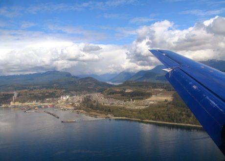 Vlucht naar het Great Bear Rainforest