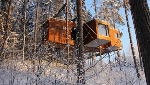 @Treehotel Harads, Zweeds Lapland, Zweden
