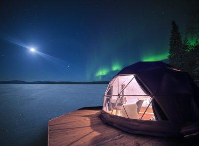 Aurora Domes Torassieppi, Noorderlichtweekend Fins Lapland, bijzondere overnachtingen